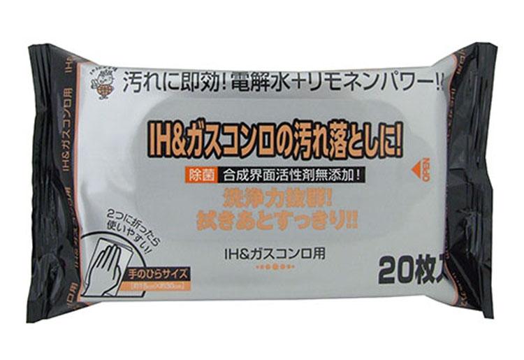 IH&ガスコンロ用クリーナー 20枚 180×300mm 108個セット