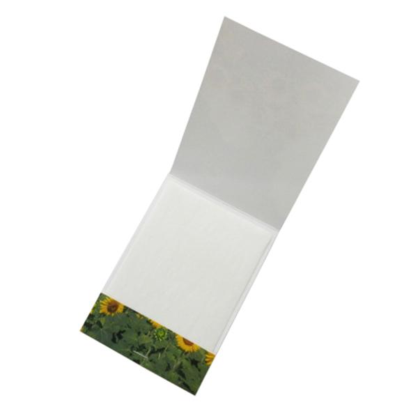 あぶらとり紙Iタイプ10枚 ホッチキス止(名刺ポケット付き) 1000個 85×106×3mm油取紙 ノベルティグッズ