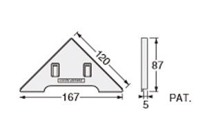 Joto ジョートー キソパッキン調整板 KP-A12用 3mm厚 KP-S12A3 426-1223 左右120セット 基礎 床下 工事 基礎パッキン
