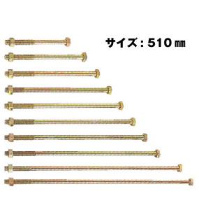 Z ゼット Z六角ボルト M12 M12×510mm 50本 417-2510 基礎 内装 構造金物 土台