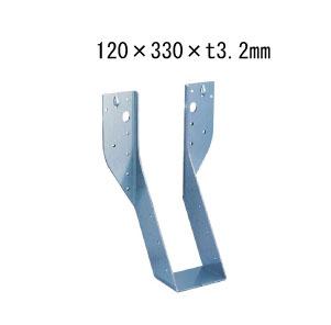 カナイ ビス止め耐震梁受け金物 肩掛けなし 梁寸法120巾 120×330×t3.2mm 6個 442-2658 基礎 内装 構造 土台