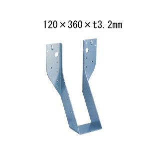 カナイ ビス止め耐震梁受け金物 肩掛けなし 梁寸法120巾 120×360×t3.2mm 6個 442-2659 基礎 内装 構造 土台