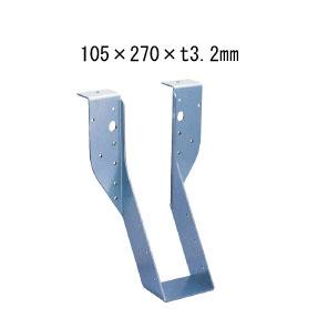 カナイ ビス止め耐震梁受け金物 肩掛けあり 梁寸法105巾 105×270×t3.2mm 6個 442-2641 基礎 内装 構造 土台