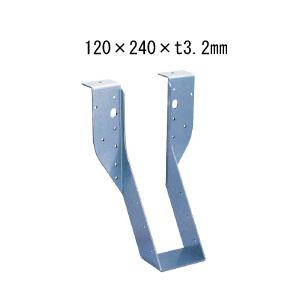 カナイ ビス止め耐震梁受け金物 肩掛けあり 梁寸法120巾 120×240×t3.2mm 6個 442-2645 基礎 内装 構造 土台