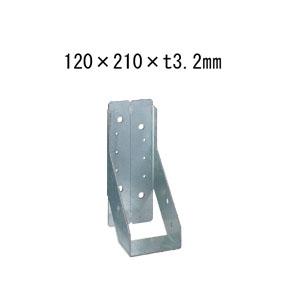 タナカ 内折り梁受け金物 梁寸法120巾用 120×210×t3.2mm 10個 441-9610 基礎 内装 構造 土台