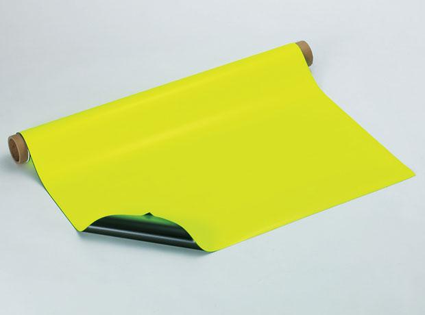 マグネルミナシート 厚み0.8mmX1000mmX10m 1本 明るいところでも視認性に優れ 鮮明に蛍光発色 オフィス用品 ホワイトボード 黒板 冷蔵庫 磁石