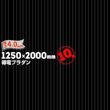 プラダン 導電品 AC-4-60 BK厚さ 4.0mm1250mm×2000mmブラック10枚