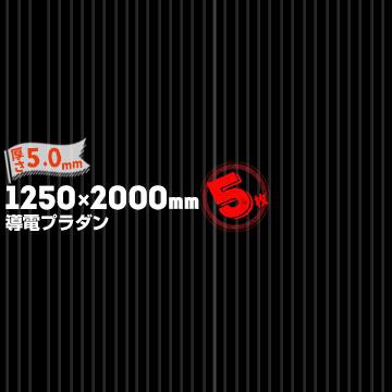 【宛先法人名限定商品】宇部エクシモ ダンプレート 導電品 AC-5-90 BK厚さ 5.0mm1250mm×2000mmブラック5枚