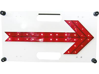 LED 方向指示板 シンプル 赤色LED30個使用、光センサーで自動点灯!