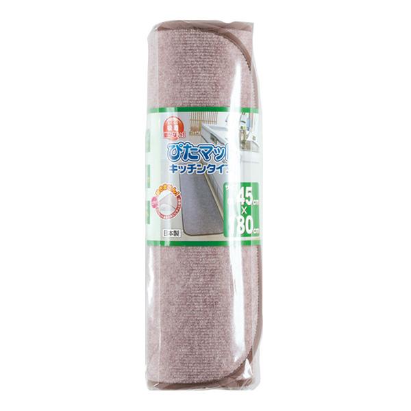 ワタナベ工業 吸着キッチン用ぴたマット 180KC-180 45cm×180cm 6枚 ずれない すべり止め ラグ 台所 消臭 洗濯 日本製ピタ