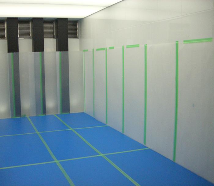 床用養生板 耐久性のある床養生ボード/ベストボード 厚2.0mm(10枚/セット)エンボス加工 2.0mm×910×1820mm【青ベニヤ 養生板 pp板】