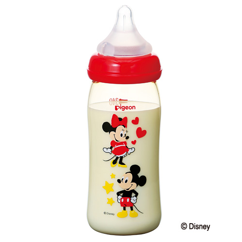Pigeon breast feeling ' feeding bottles plastic Mickey pattern 240 ml