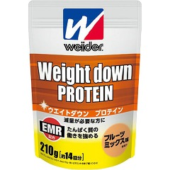 Weider weight down protein 210 g [about 14 times, mixed fruits taste