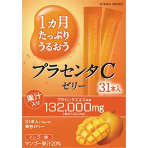 10 g of placenta C jelly beauty jelly mango taste to be fully enriched for one month *31