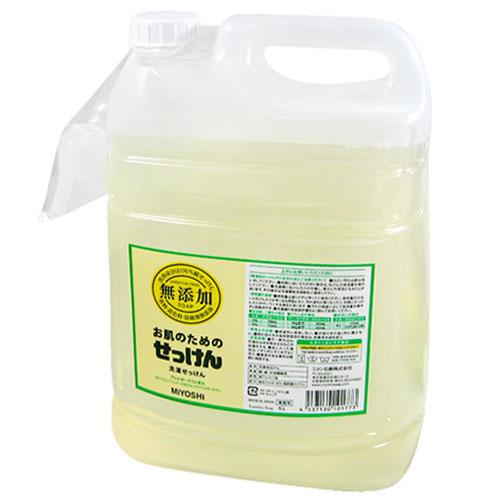 ミヨシ 비누 무 첨가 피부를 위한 세탁 용 액체 비누 업무용 5L (분사 된 리필)