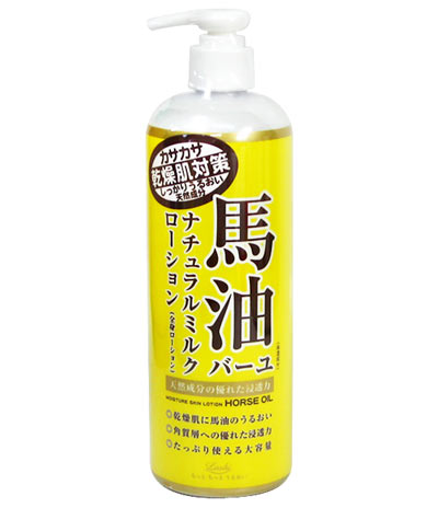 Loshi moist-aid|cosmetex horse oil natural milk lotion 485 ml ★ total 1980 yen or more at ★