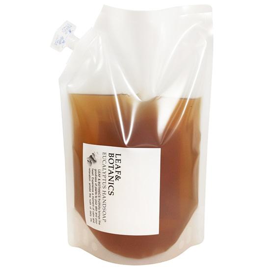LEAFBOTANICS 大容量 ハンドソープ EU 天然精油の香り 植物性石けん 受注生産品 ユーカリ 1200mL リーフ 好評 松山油脂 ボタニクス 詰替用