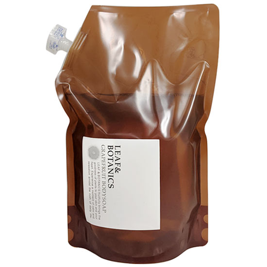 LEAFBOTANICS アロエベラ配合ボディソープGL 大型詰替用 天然精油の香り 松山油脂 リーフ ボタニクス グレープフルーツ 大容量 GL 1200mL お気にいる 在庫一掃 詰替用 ボディソープ