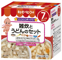 Kewpie baby food is total box porridge of rice and vegetables and 60 g of sets of the udon *2 case ★ 1,980 yen or more with a smile★