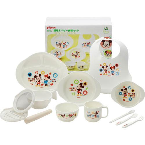 Pigeon cooked u0026 baby tableware set Mickey u0026 Friends  sc 1 st  Rakuten & yoka1   Rakuten Global Market: Pigeon cooked u0026amp; baby tableware ...