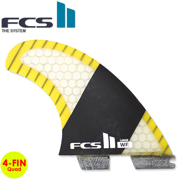 FCS2 フィン クワッド FIN エフシーエス2 フィン WR Quad Performance Core Carbon STRETCH ストレッチ クアッドフィン 4-Fin LARGE