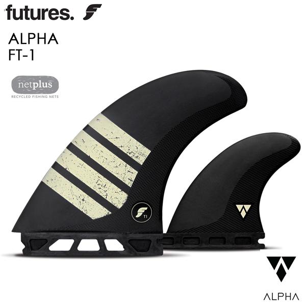 FUTURE フィン ツインフィン スタビライザー FT1 Alpha アルファ 2+1 ツインスタビ BLACK 01005131AP10 ALTERNATE