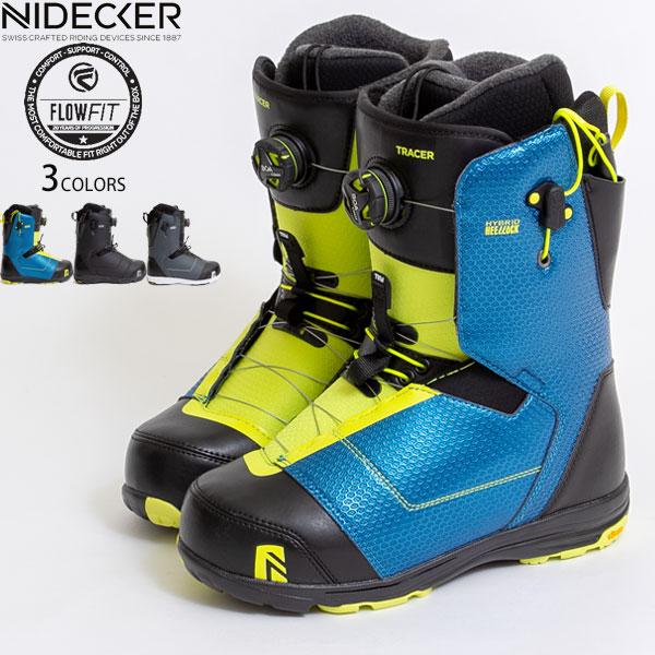 【値下げしました!】スノーボード ブーツ メンズ NIDECKER FLOW TRACER 甲高幅広対応 カービング パーク 地形 メーカー1年保証付き