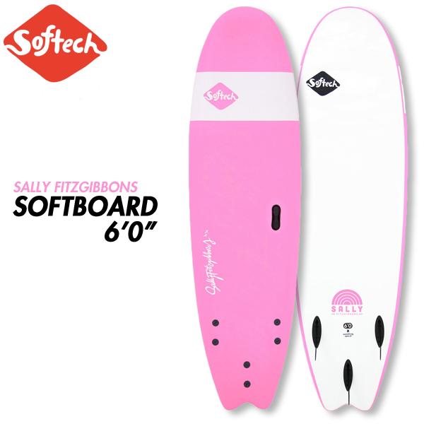 ソフテック サーフボード Handshaped Sally Fitzgibbons FB 6'0 ソフトボード ファンボード Pink