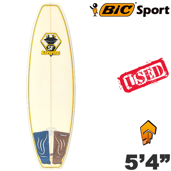 【中古】BIC サーフボード SUPERFROG 5'4