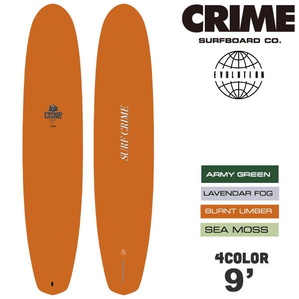 """【4月-7月頃の間に入荷後発送】CRIME SURFBOARDS クライム サーフボード EVOLUTION 9'0"""" ソフトボード シングルロング ログ 4カラー"""