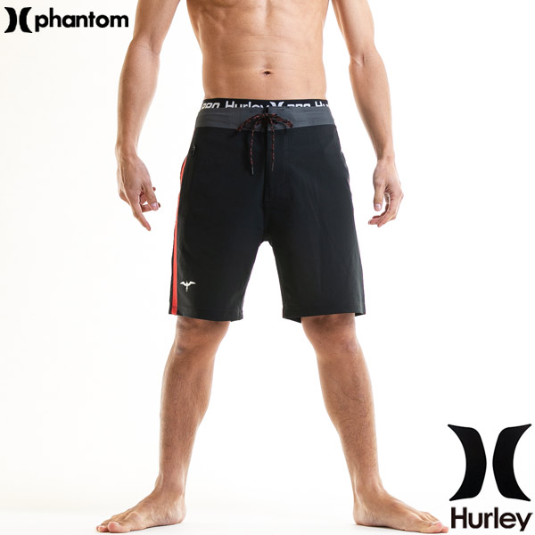HURLEY ハーレー 水着 メンズ サーフパンツ 黒 ブランド 18丈 伸縮レベルA
