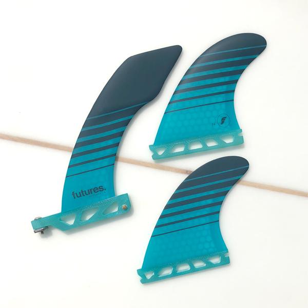 HACHET 6.0 V2 F4 SIDE FIN 2+1 /[Teal Black/] ハチェット /[フューチャーフィン/] future フィン ロングボード用