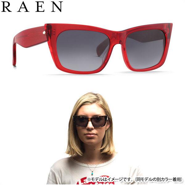 【20%OFF!SALE】RAEN optics サングラス レイン オプティクス DURAN レッド クリスタル フォックス スクエア レディース メンズ
