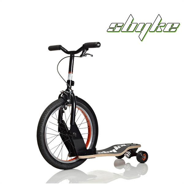 Sbyke スバイク P16 16インチ キックスクーター BMX スケートボード マットブラック×オレンジ