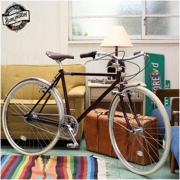 """BURLINGTON バーリントン """"5I"""" クリムゾン 700C 内装5段 レトロ 自転車"""