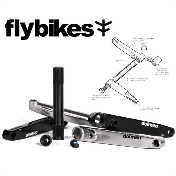 【SALE】BMX FLYBIKES フライ DOLMEN CRANKS クランク 175mm 3色バリ