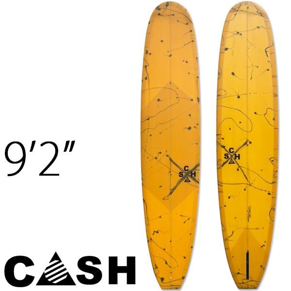 【20%OFF】【訳アリ】 アウトレット CASH SURFBOARDS キャッシュサーフボード 9'2″Model-K ロングボード ノーズライダー YELLOW SPLASH #49634