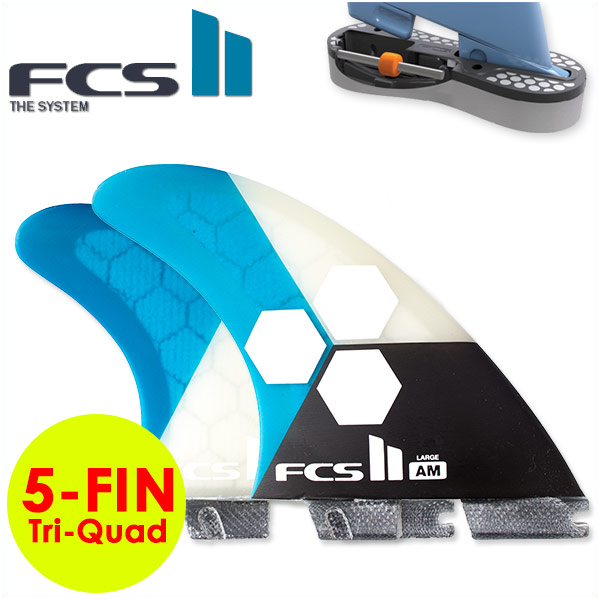 FCS2 5フィン FIN エフシーエス2 フィン AM Tri-Quad Performance Core アルメリック AL MERRICK トライクアッドフィン 5-Fin LARGE