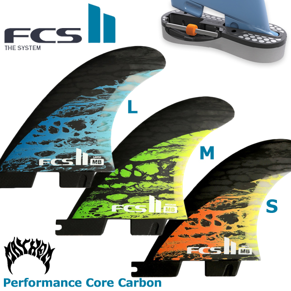 FCS2 フィン MB マット バイオロス Template fin ショートボード用 トライフィン Small/Medium/Large