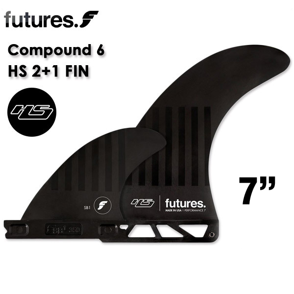 futures. FUTURE FIN フューチャー フィン ヘイデンシェイプス Haydenshapes 2+1 7インチ コンパウンド6 for The Plunder model ALTERNATE