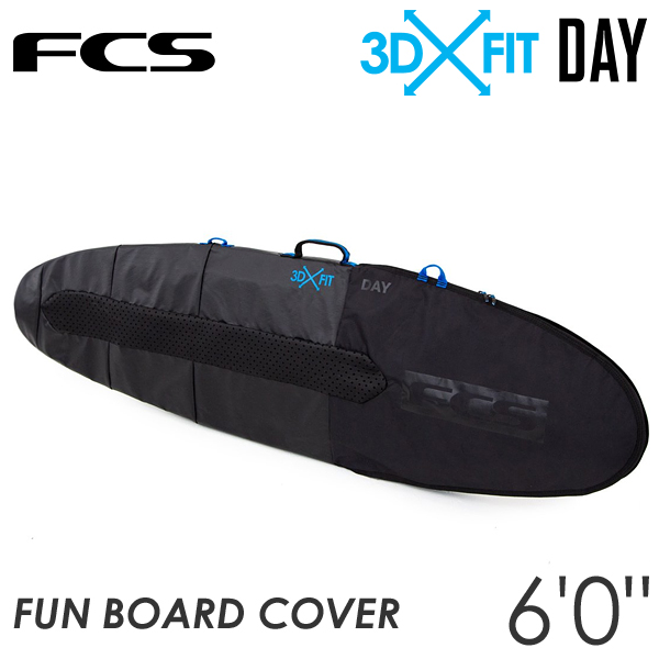 FCS サーフボード ハードケース 3DXFIT DAY 6'0ft Fun Board ファンボード 1本用