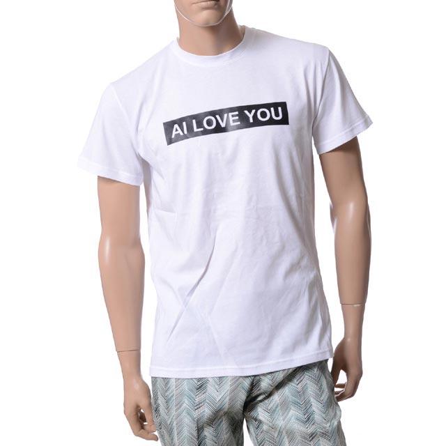 アンドレアインコントリ (ANDREA INCONTRI) AI LOVE YOU オーバーフィット半袖Tシャツ コットン ホワイト a8580110a 2015SS メンズ春夏 送料無料 【正規取扱】