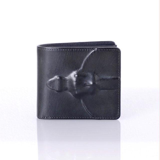 ミハラヤスヒロ (MIHARAYASUHIRO) 二つ折り財布 マッドブラック39895520bbギフト,プレゼントメンズ 送料無料 正規取扱