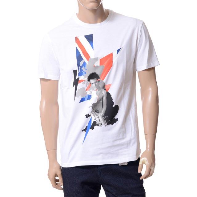 ニールバレット (Neil Barrett) ハイブリットプリント[シド・ヴィシャス]Tシャツ コットン ホワイトpbjt217se531s03ピストルズ, メンズ 送料無料 正規取扱