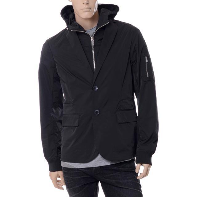 エンポリオアルマーニ (EMPORIO ARMANI) スリーウェイスプリングジャケット ジレ付き ブラック3y1g071ncdz0999 メンズ 送料無料 正規取扱