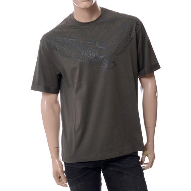 エンポリオアルマーニ (EMPORIO ARMANI) イーグルプリントラウンドネック半袖Tシャツ カーキ3y1td21jbez0570 メンズ 送料無料 正規取扱