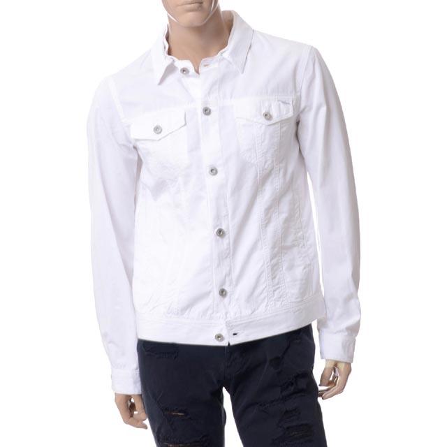 アルマーニジーンズ (ARMANI JEANS) カラーデニムジャケット ホワイト3y6b046n1zz1100 メンズ 送料無料 正規取扱