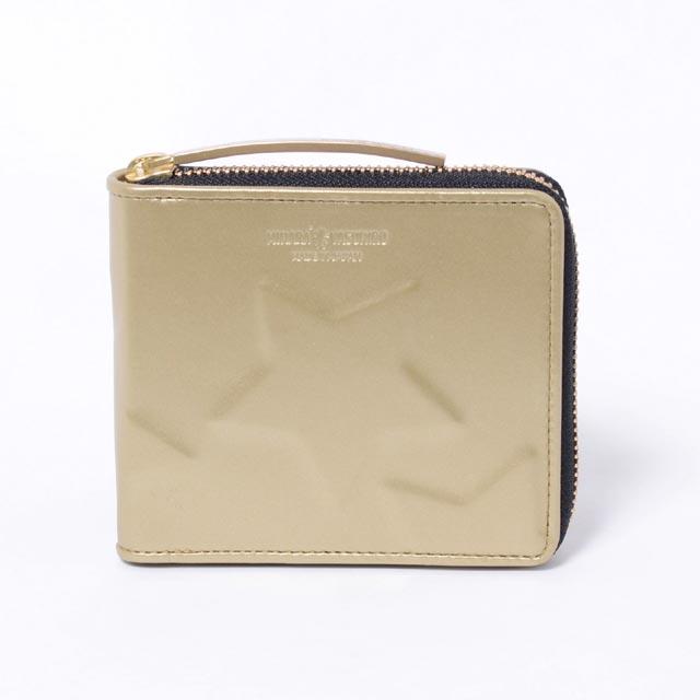 ミハラヤスヒロ (MIHARAYASUHIRO) スター二つ折り財布 ゴールド99895100goldメンズ 送料無料 正規取扱