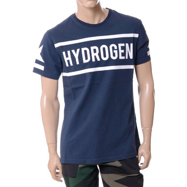 ハイドロゲン (Hydrogen) ブランドロゴTシャツ ネイビー21060641005520ICON T-SHIRT 2018SS メンズ春夏 3,980円以上購入で送料無料 正規取扱