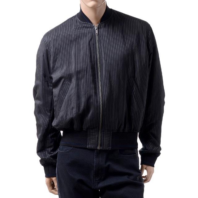 ハイダーアッカーマン (Haider Ackermann) ストライプMA1ボンバージャケット ブラック183301313199LARIMAR BLACK 2018SS メンズ春夏 10,800円以上購入で送料無料 正規取扱